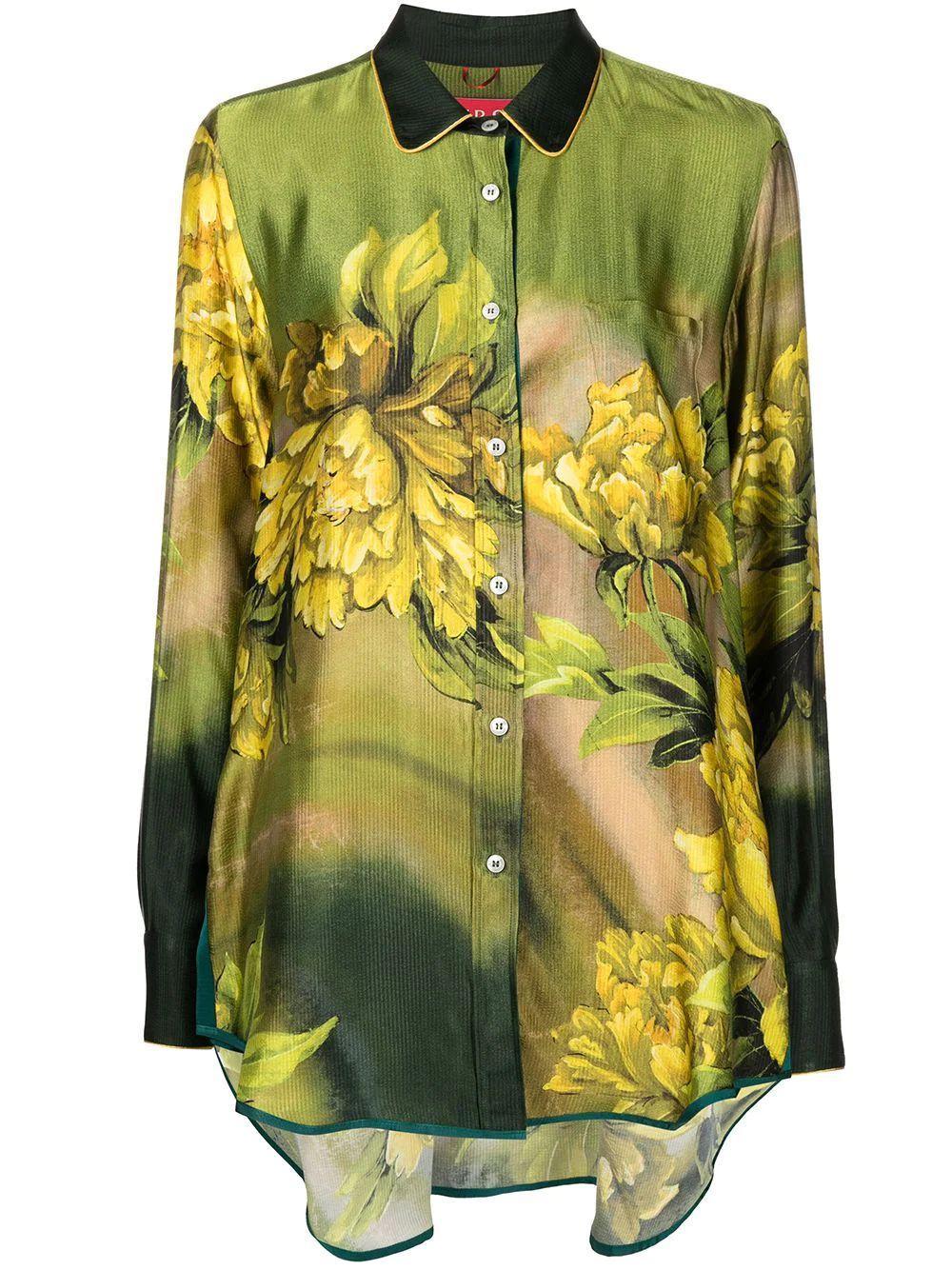 Floral Collared Blouse Item # CA000199-TE00577