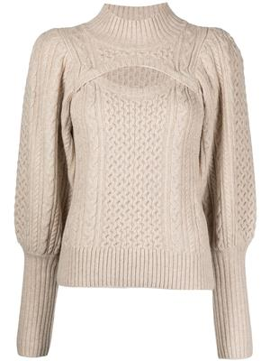 Juliette Cable Cut Out Sweater