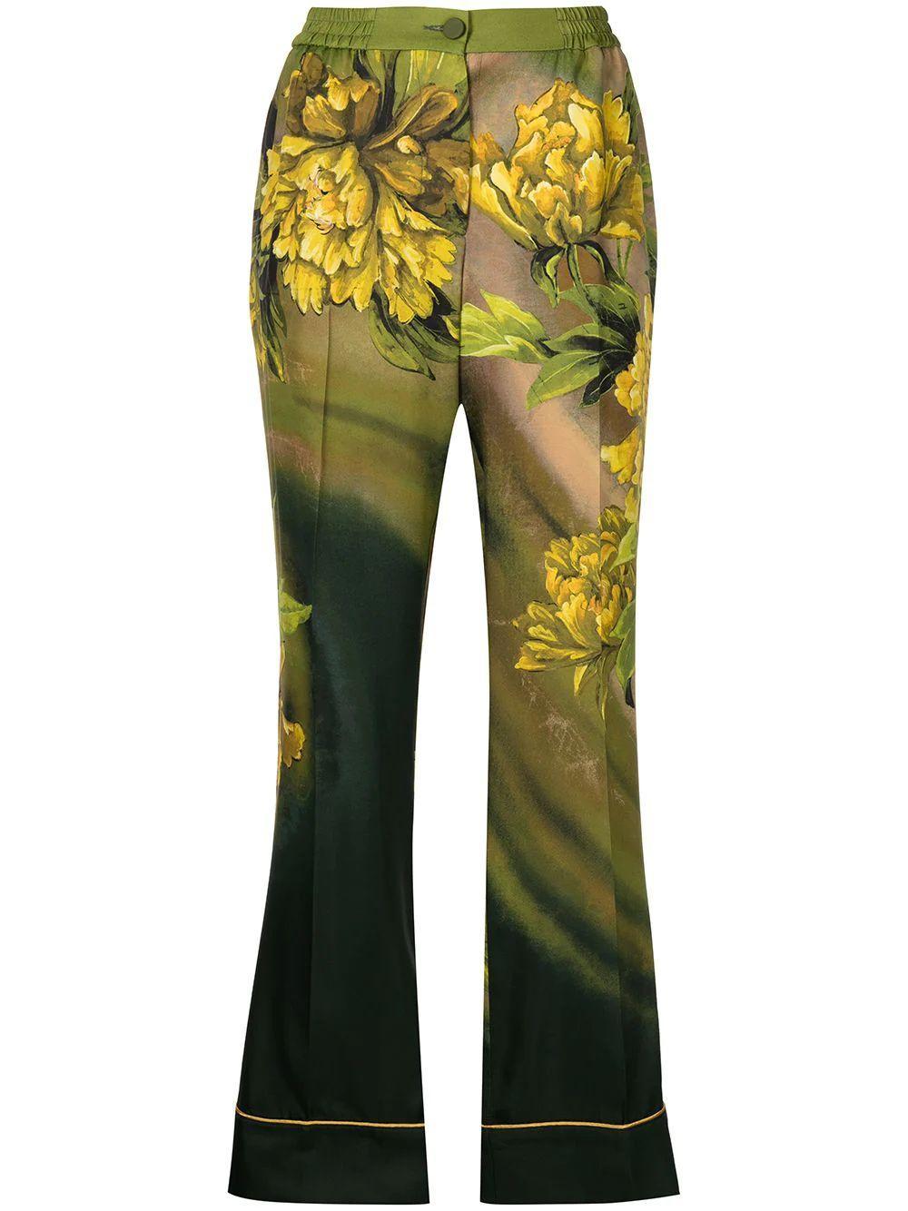 Floral Print Soft Pant Item # PA000243-TE00578