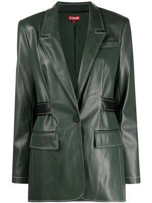 Pandora Vegan Leather Blazer