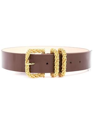 Katina Semi-Patent Leather Belt