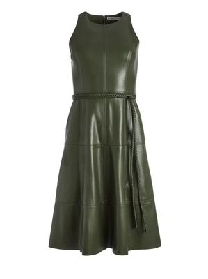 Leandra Vegan Leather Dress