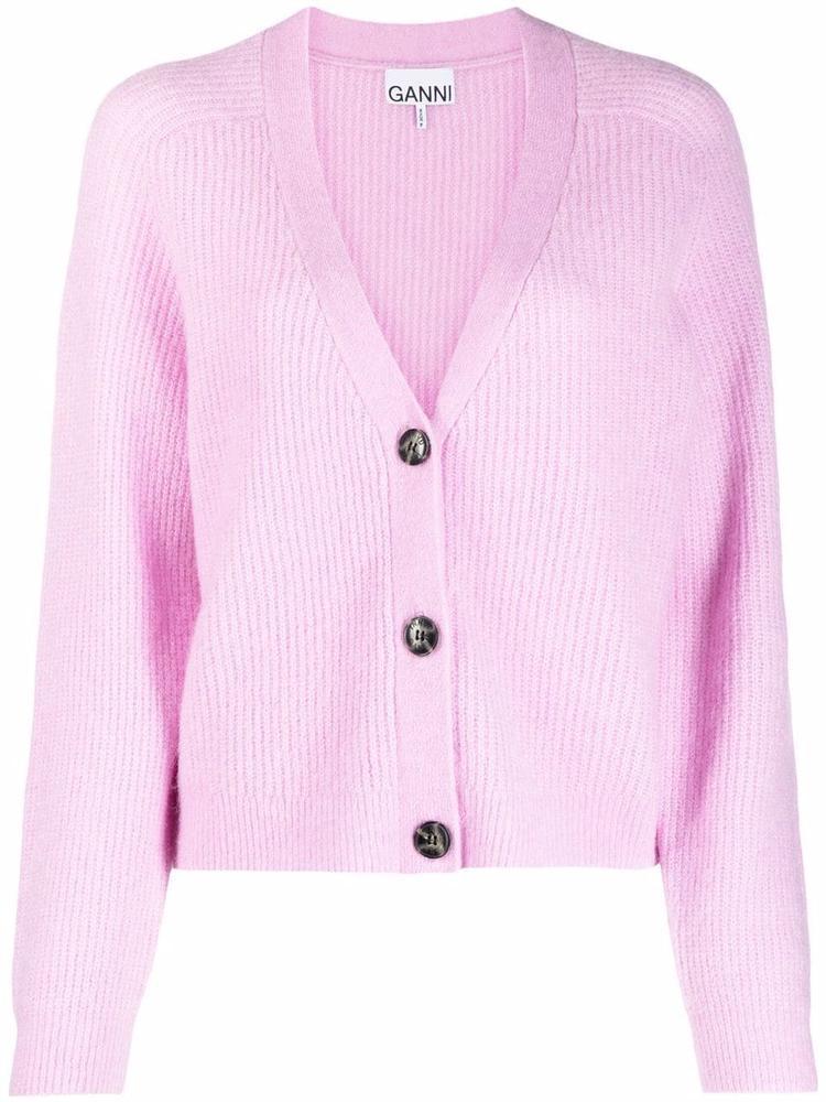 Soft Wool Knit Cardigan Item # K1549
