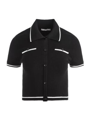 Peg Cropped Polo With Tipping