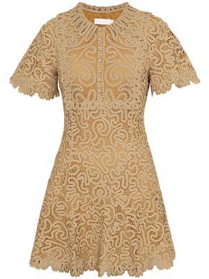 Cheyenne Guipure Flutter Sleeve Dress