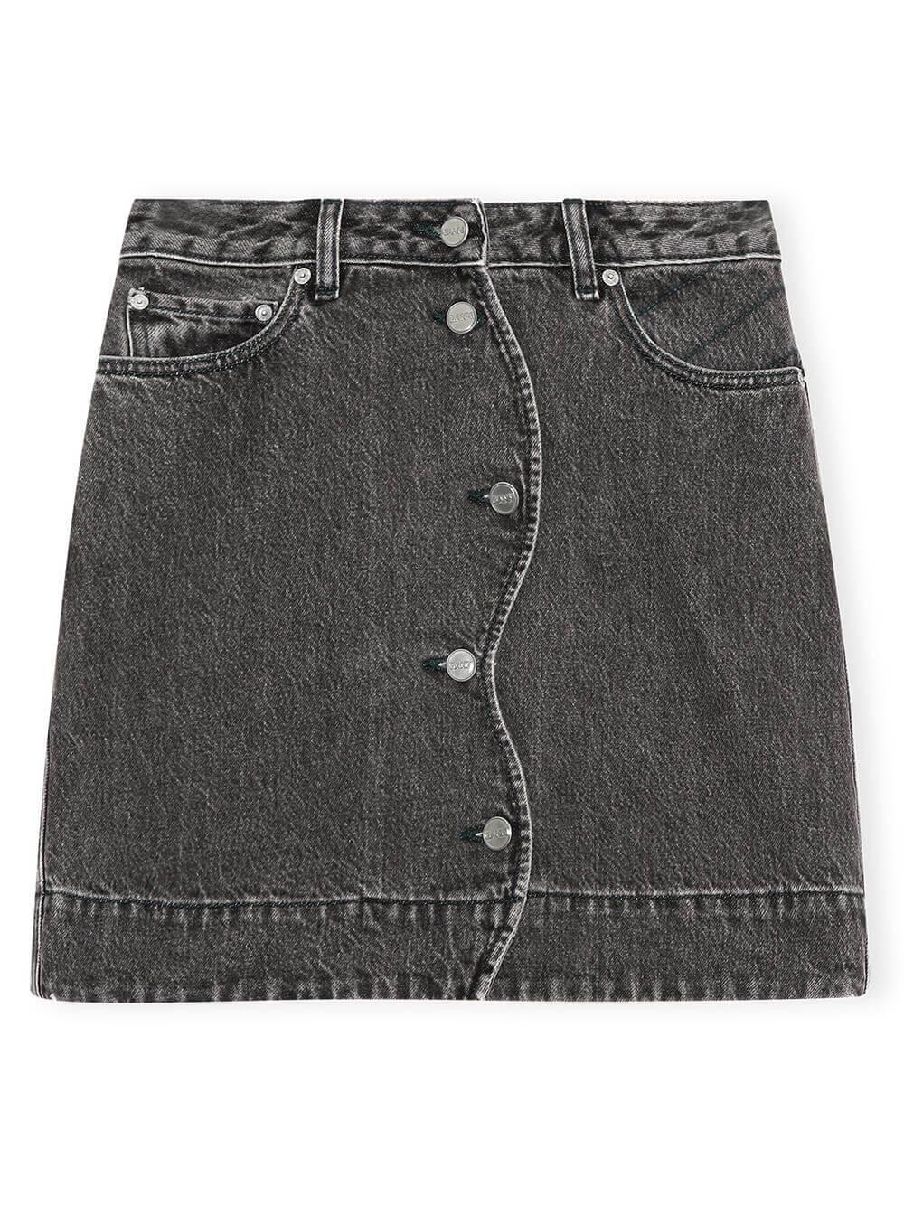 Denim Mini Skirt Item # F6193