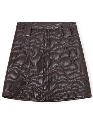 Quilted Leather Mini Skirt