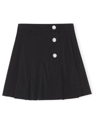 Melange Skirt with Jewels