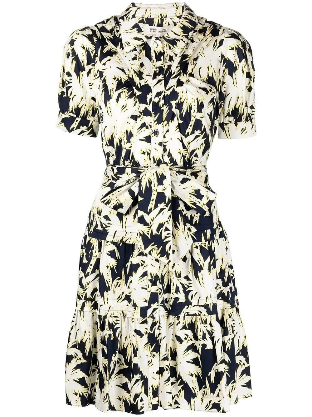 Amber Printed Shirt Dress Item # DVFDS2P005