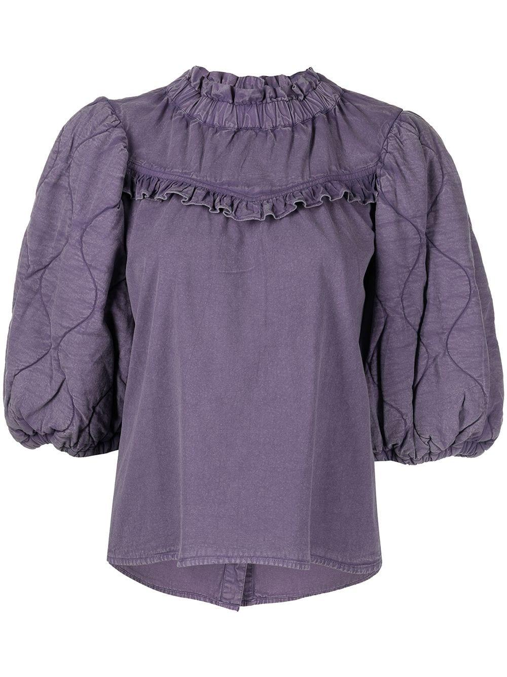 Layla Quilted Puff Sleeve Top Item # AW21-027