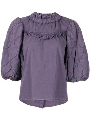 Layla Quilted Puff Sleeve Top