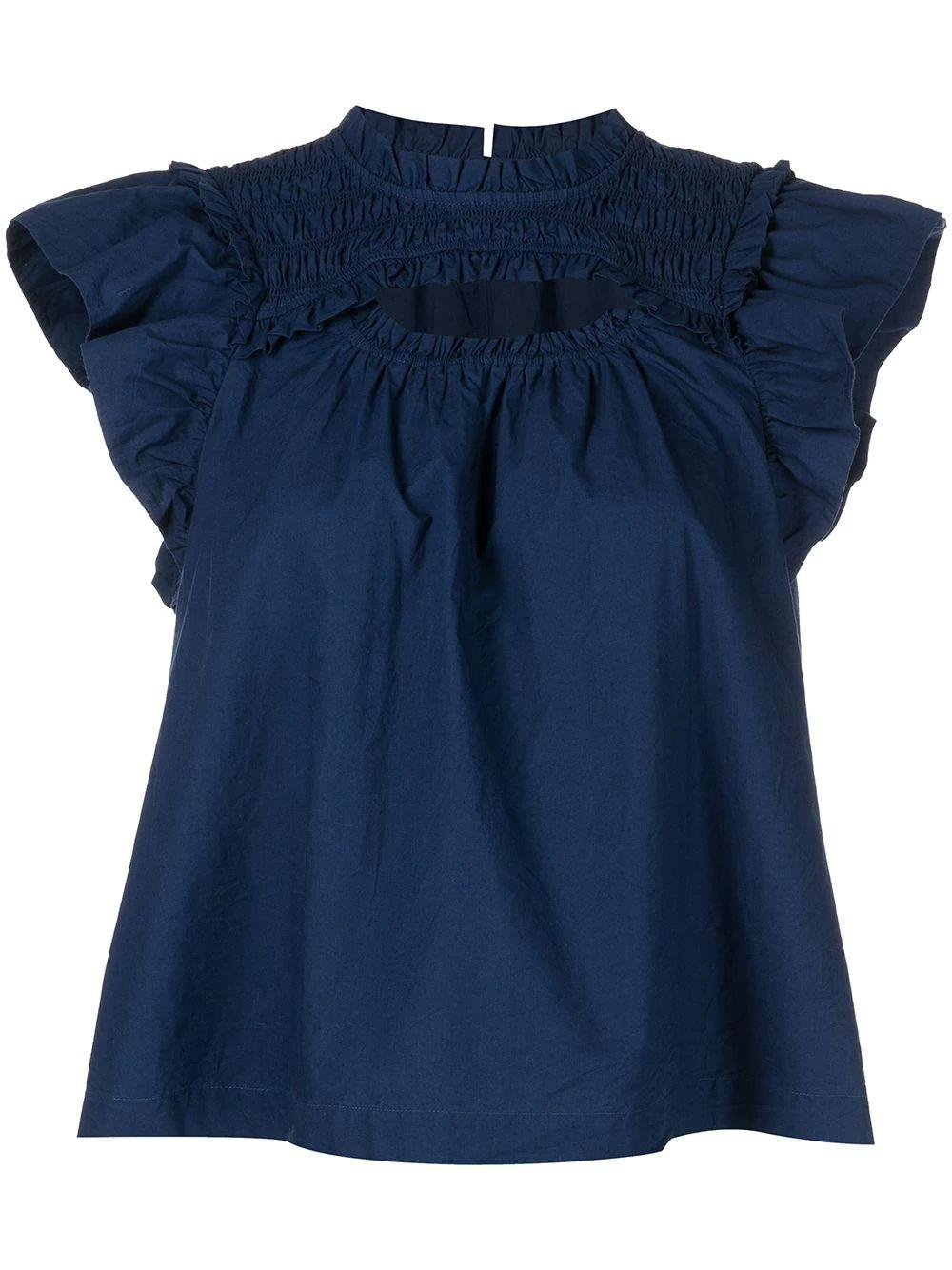 Claudine Flutter Sleeve Top Item # AW21-014