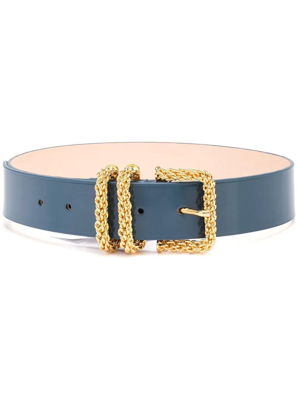 Katina Semi- Patent Leather Belt Item # 21PFKTNWCBLW