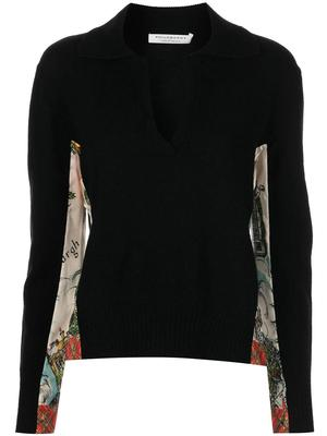 Cashmere Blend Collared Sweater