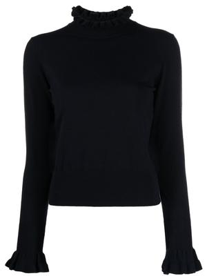 Ruffle Neck Sweater