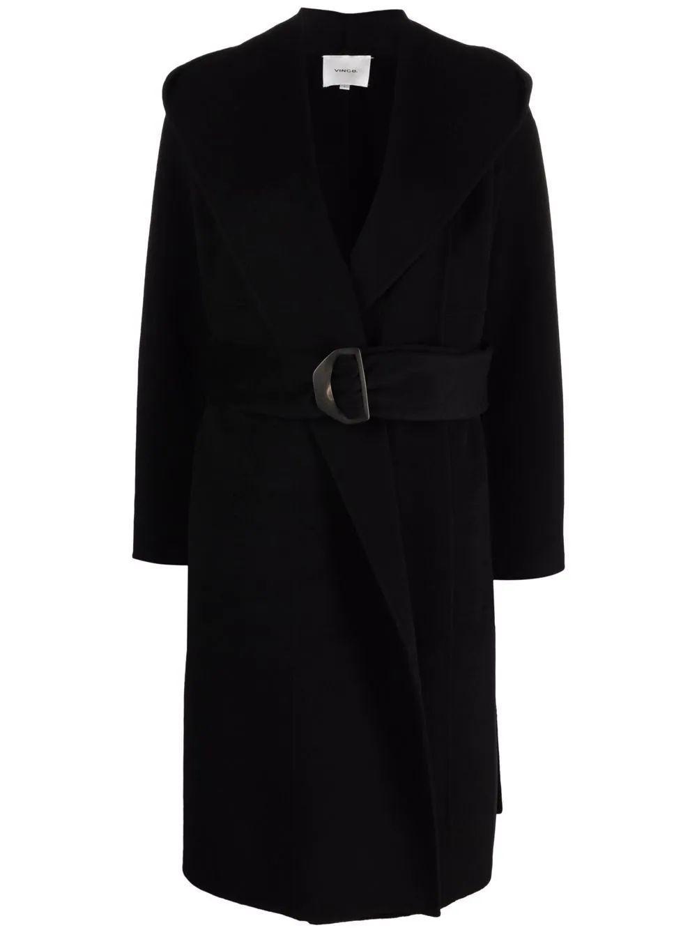 Draped Hooded Coat Item # VS91991355