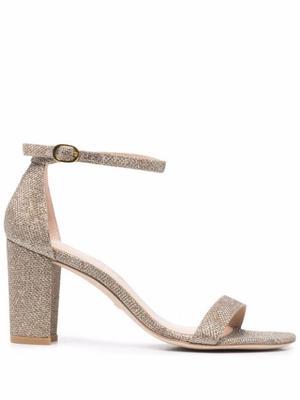 Nearly Nude Block Heel Sandal