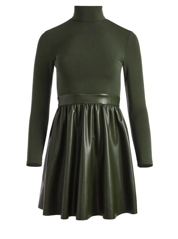 Chara Vegan Leather Dress Item # CC108J16522