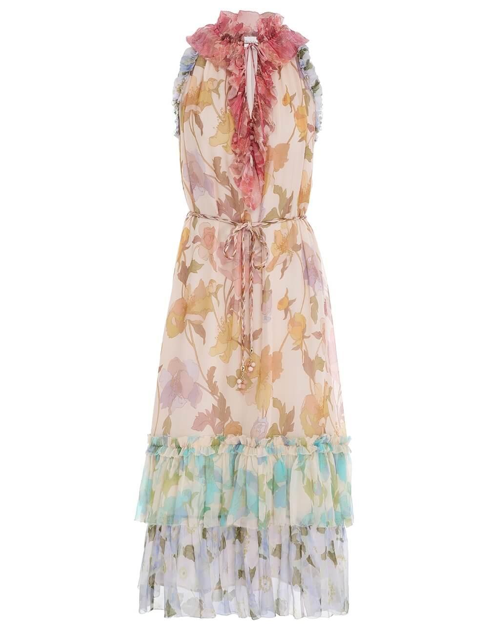 Tempo Frilled Midi Dress Item # 2177DTEM