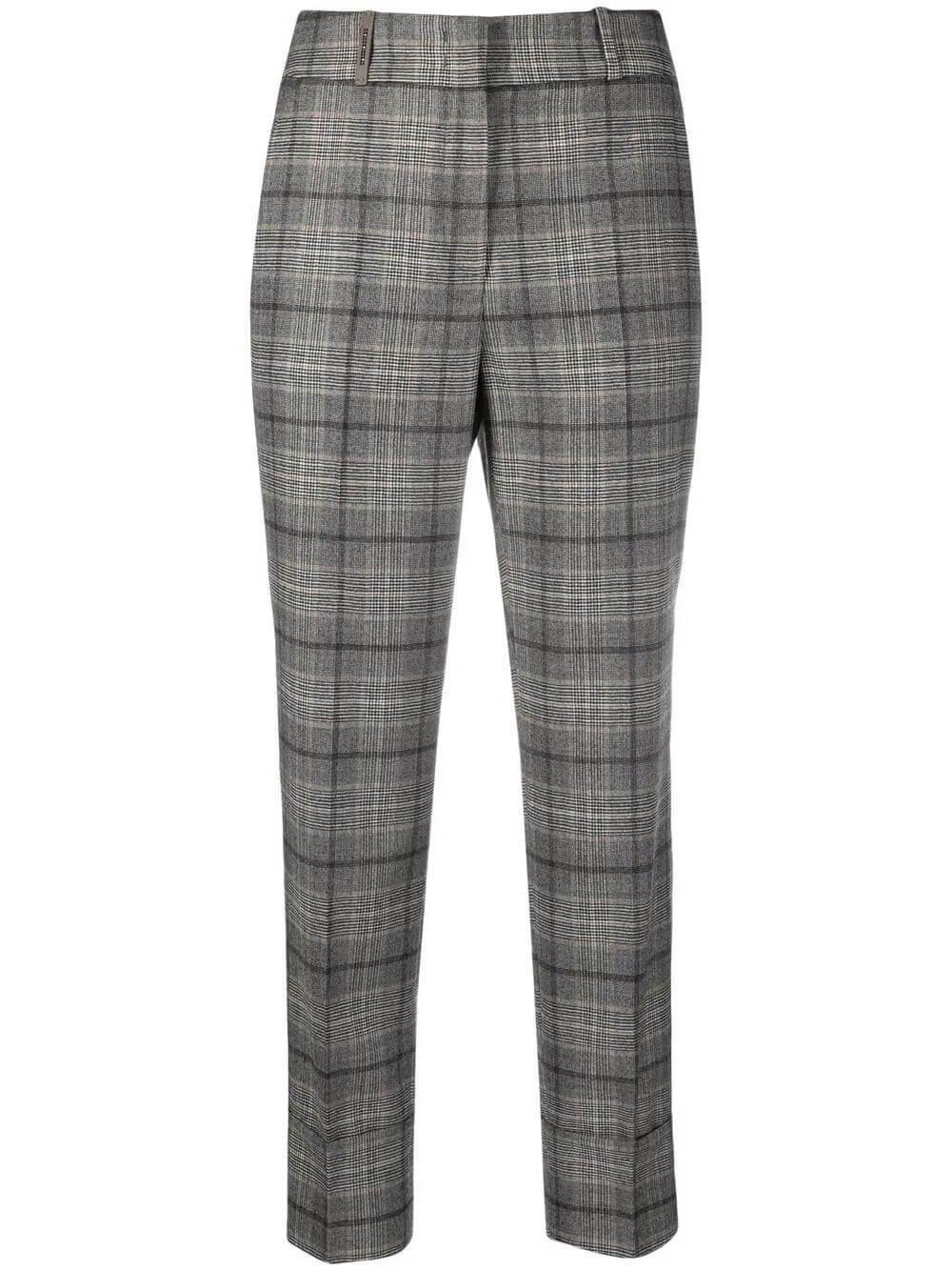 Plaid Wool Flannel Pant Item # P04629