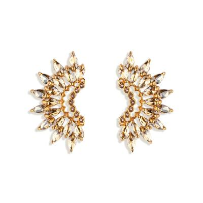 Crystal Madeline Crescent Earrings