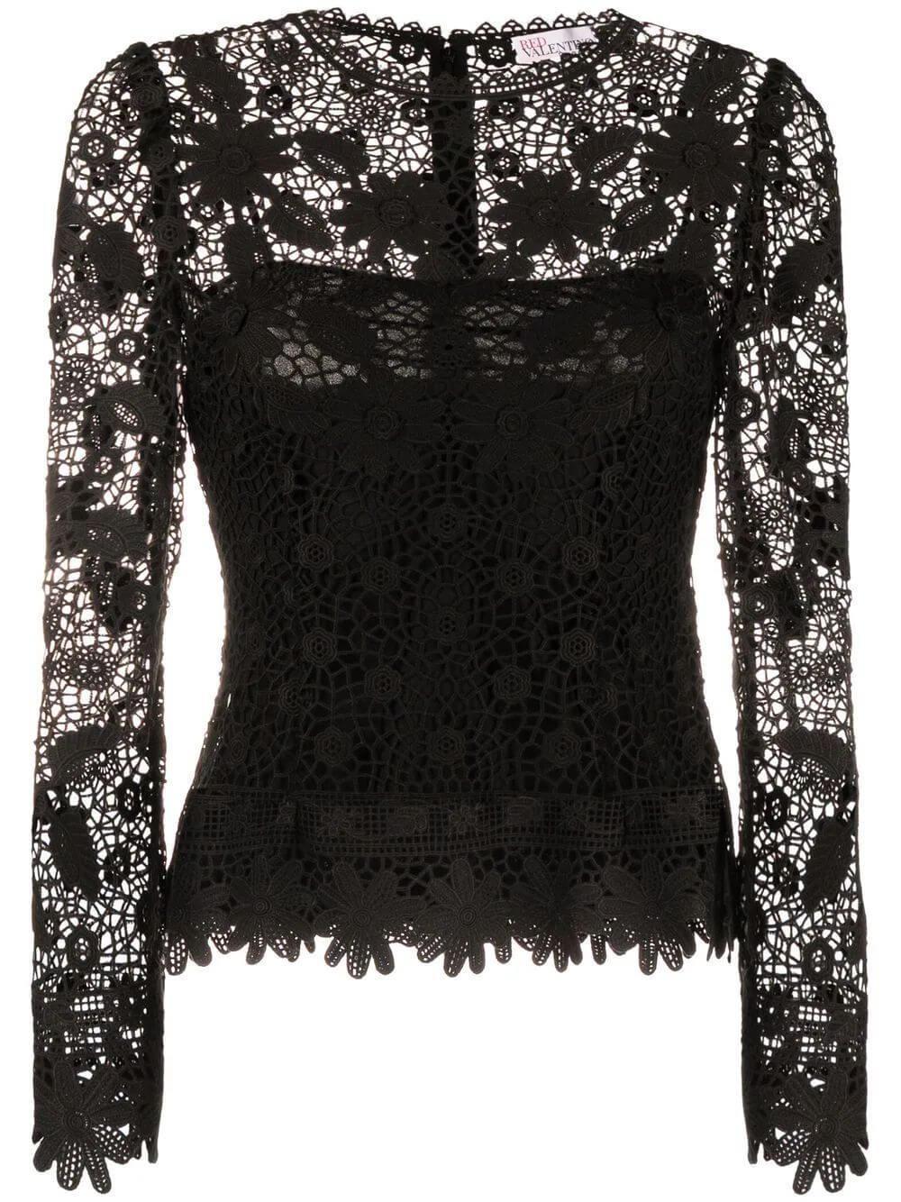 Crochet Lace Blouse Item # WR0AB04D66F