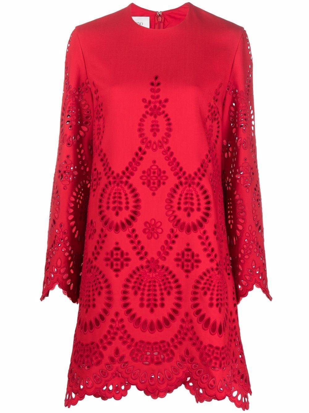 Laser Cut Mini Dress Item # WB3VAWD96GR