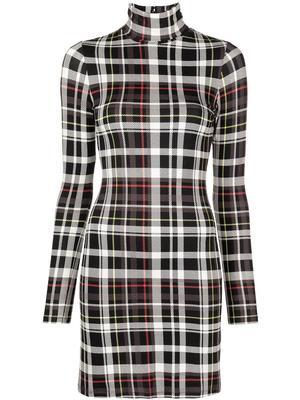 Delora Plaid Mini Dress