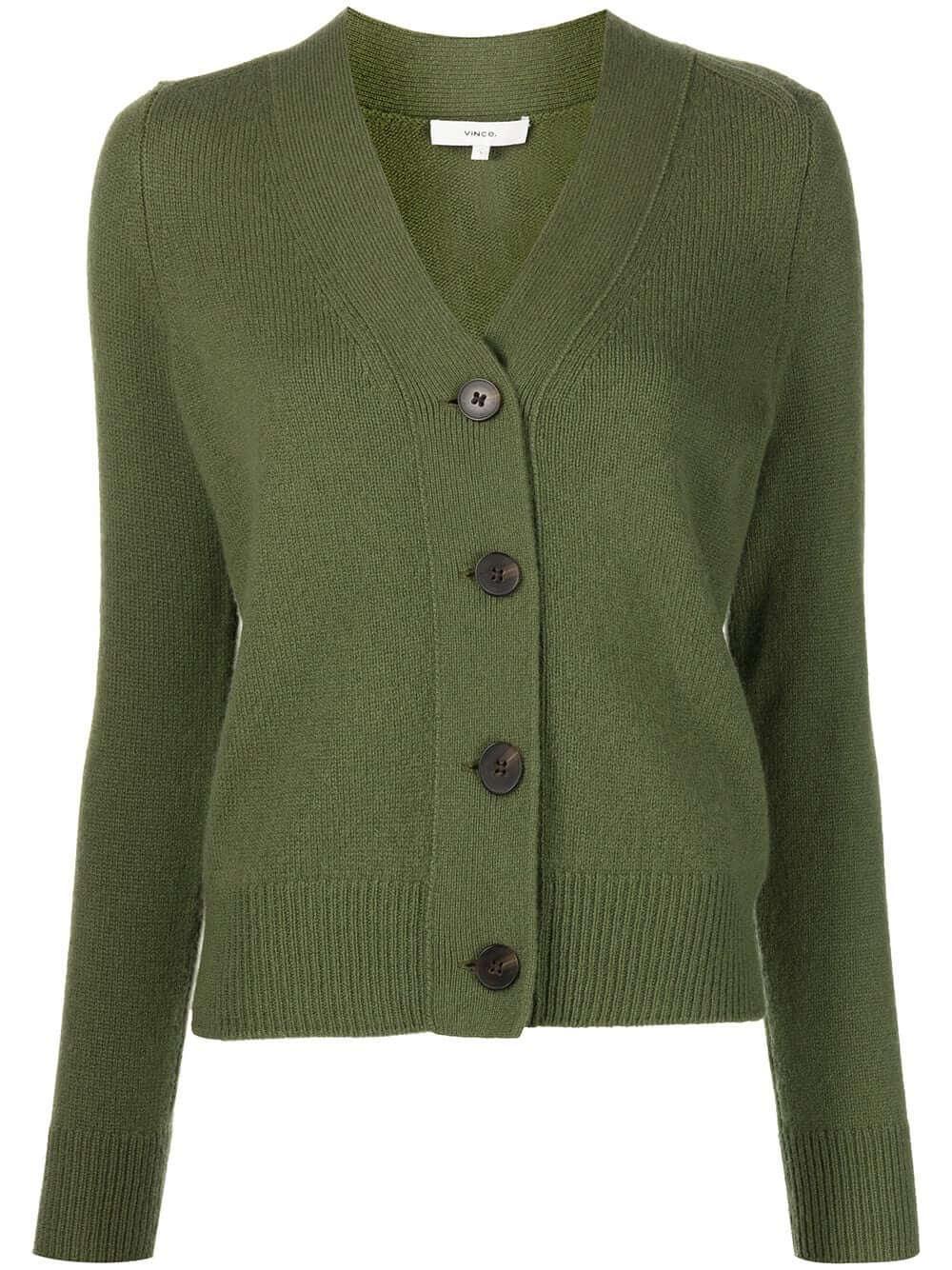 Shrunken Button Front Cardigan Item # V782178145