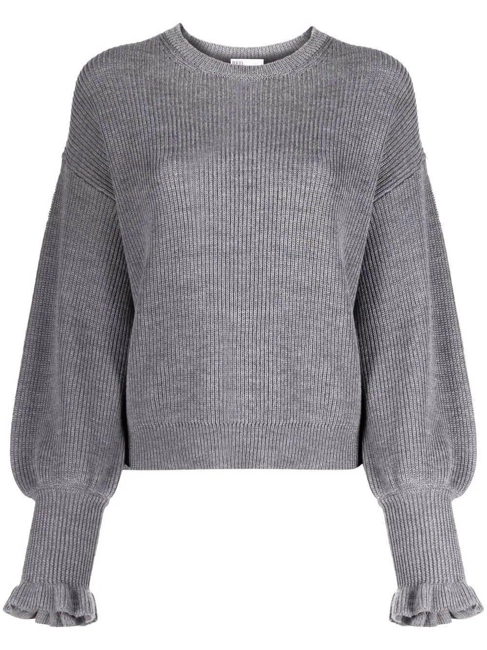 Ruffle Cuff Sweater Item # WR0KC10Q678