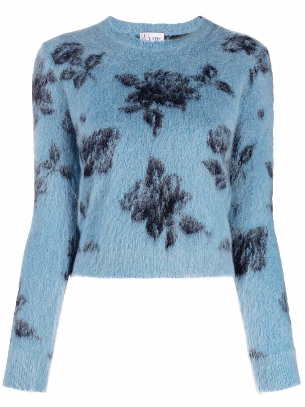 Floral Print Sweater Item # WR0KC10Z66T