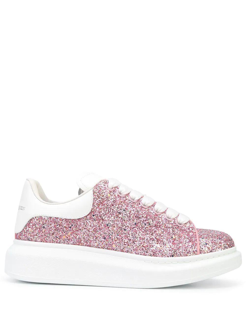 All Over Glitter Platform Sneaker Item # 621062W4RN1