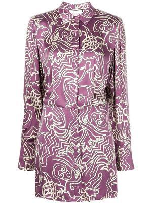Prima Silk Shirt Dress