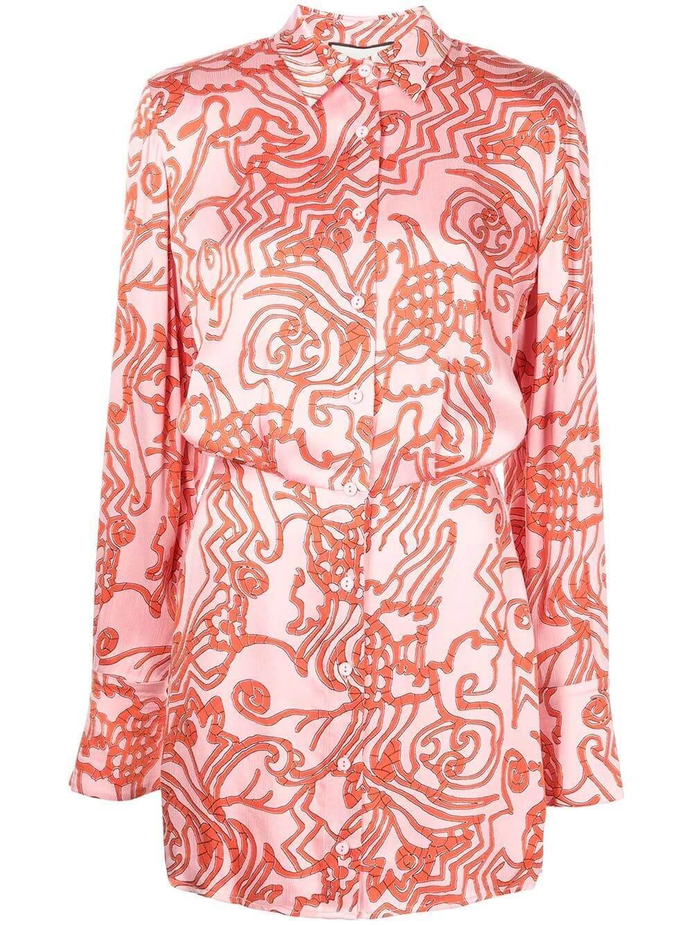 Prima Silk Shirt Dress Item # A3210313-7400