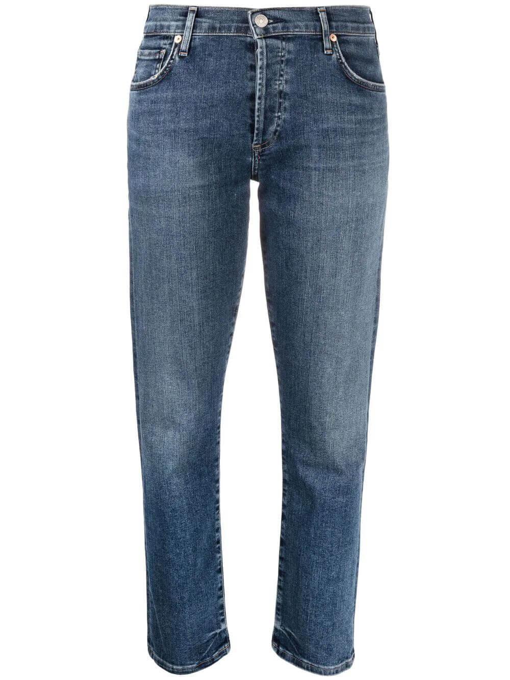 Emerson Cropped Straight Leg Jean Item # 1797B-372