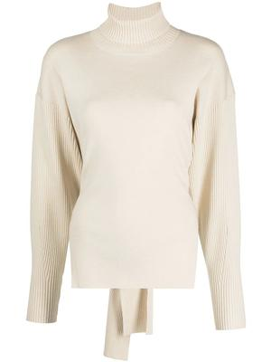 Eleanor Twisted Cable Open Back Sweater
