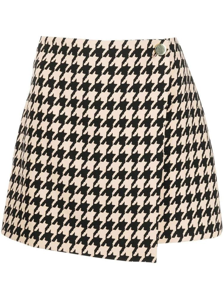 Renna Houndstooth Wrap Mini Skirt Item # CC108P89308