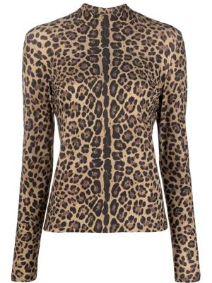 Leopard Turtleneck Top
