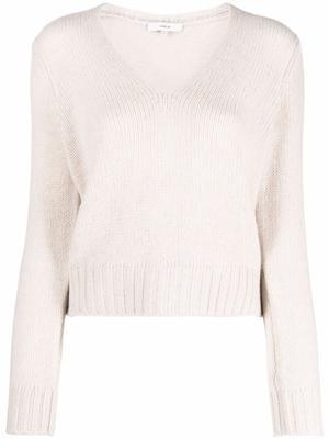 Shrunken V-Neck Pullover