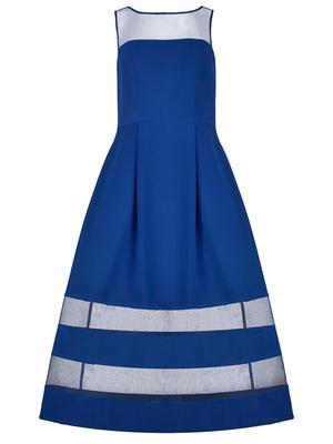 Illusion Inset Tea Length Dress