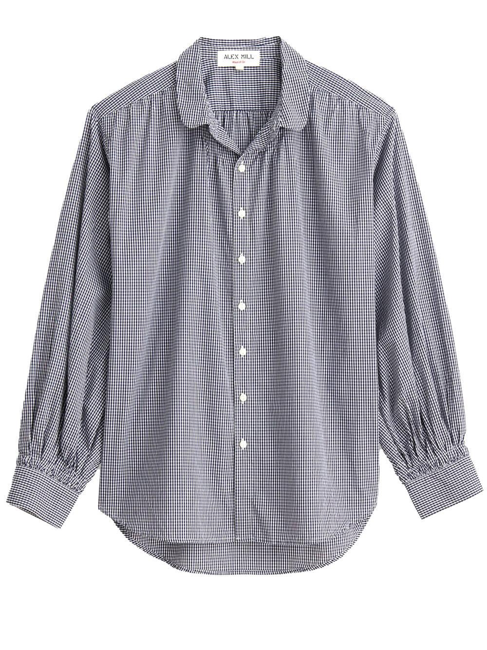 Kit Shirt In Mini Gingham Item # 216-WS013-2742