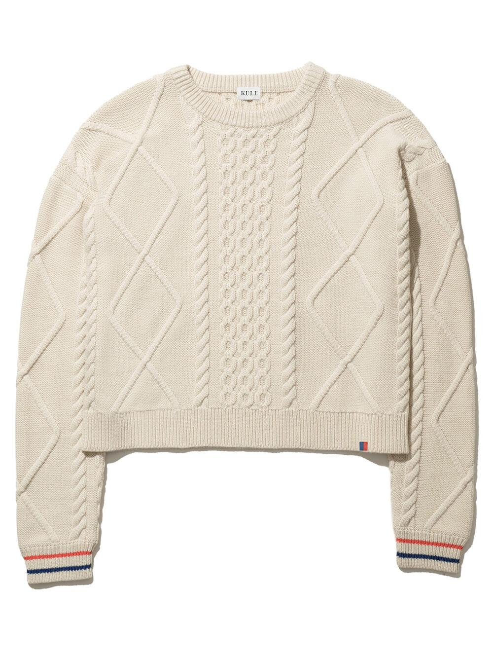 The Verne Cable Knit Sweater Item # SW191F3