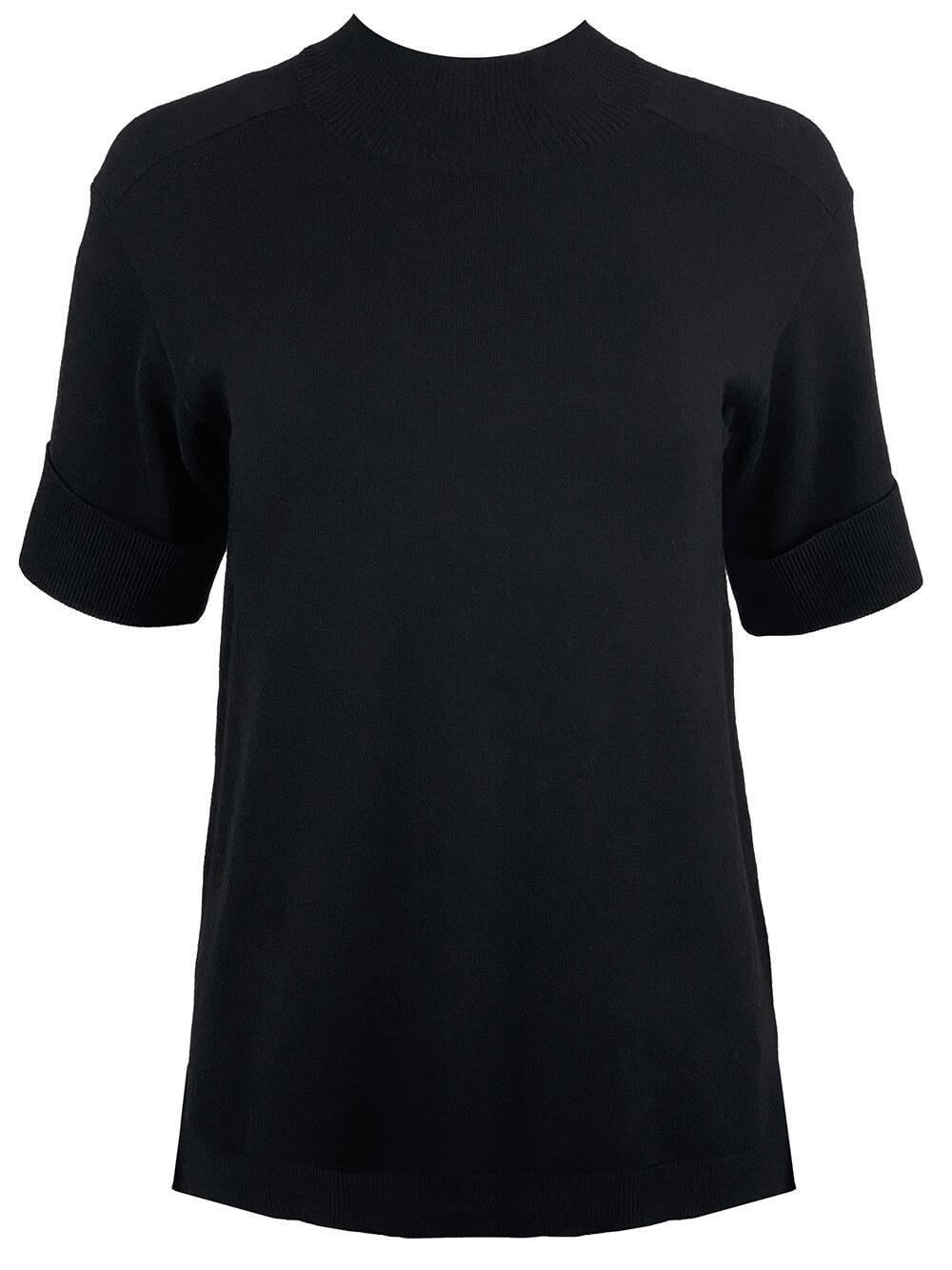 Cuff Sleeve Mock Neck Knit Top Item # 9360SW