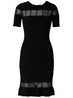 Sheer Inset Fitted Dress
