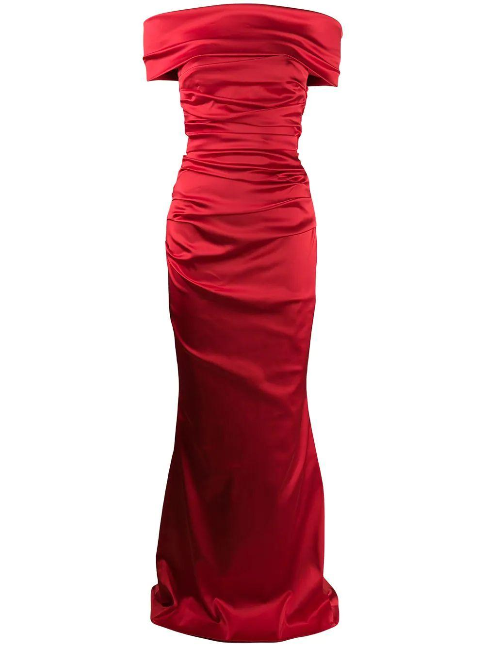 Rosso15 Satin Gown Item # ROSSO15-F21