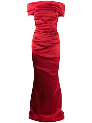 Rosso15 Satin Gown