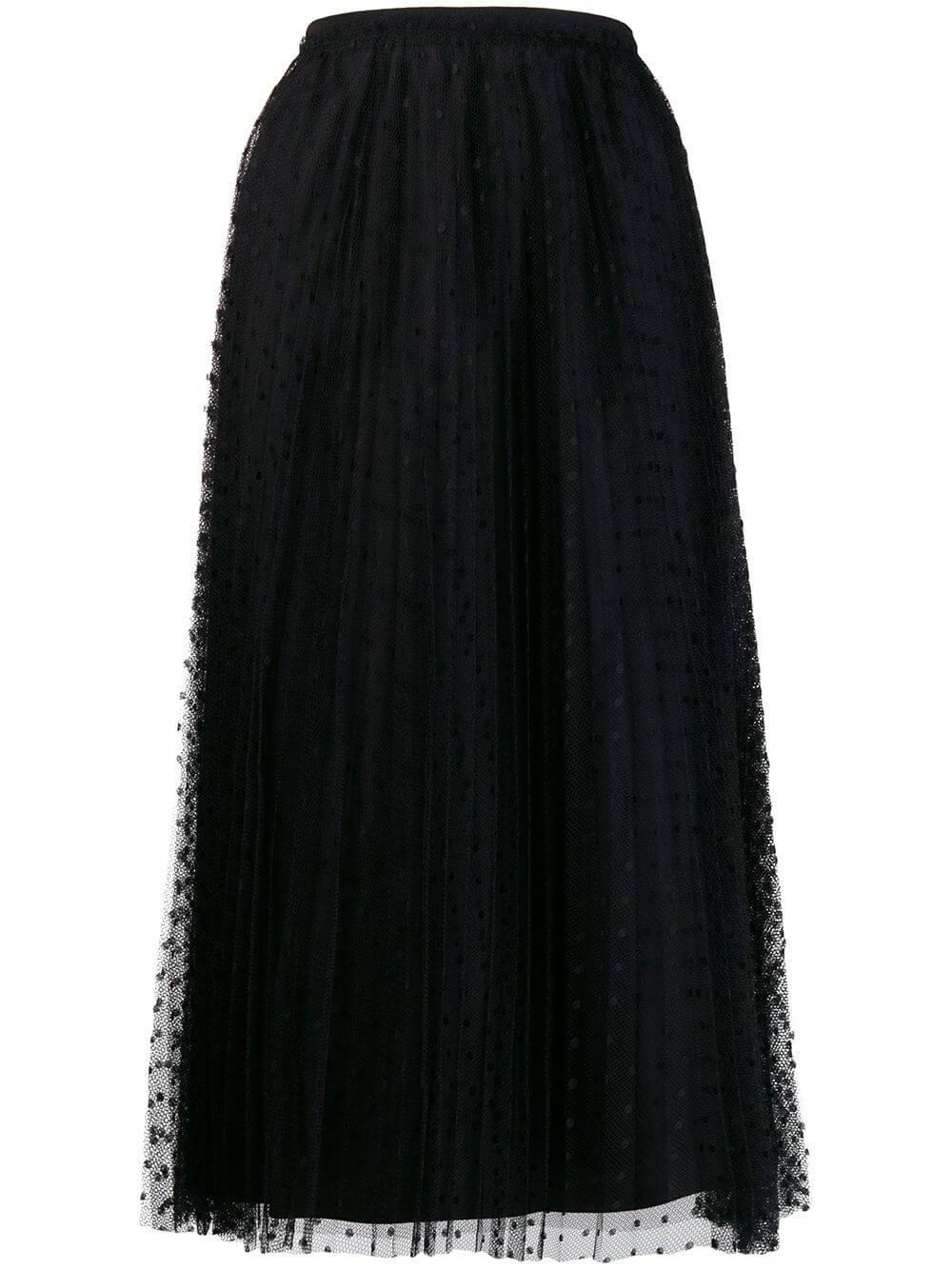 Sheer Dot Midi Skirt Item # WR0RAC20428