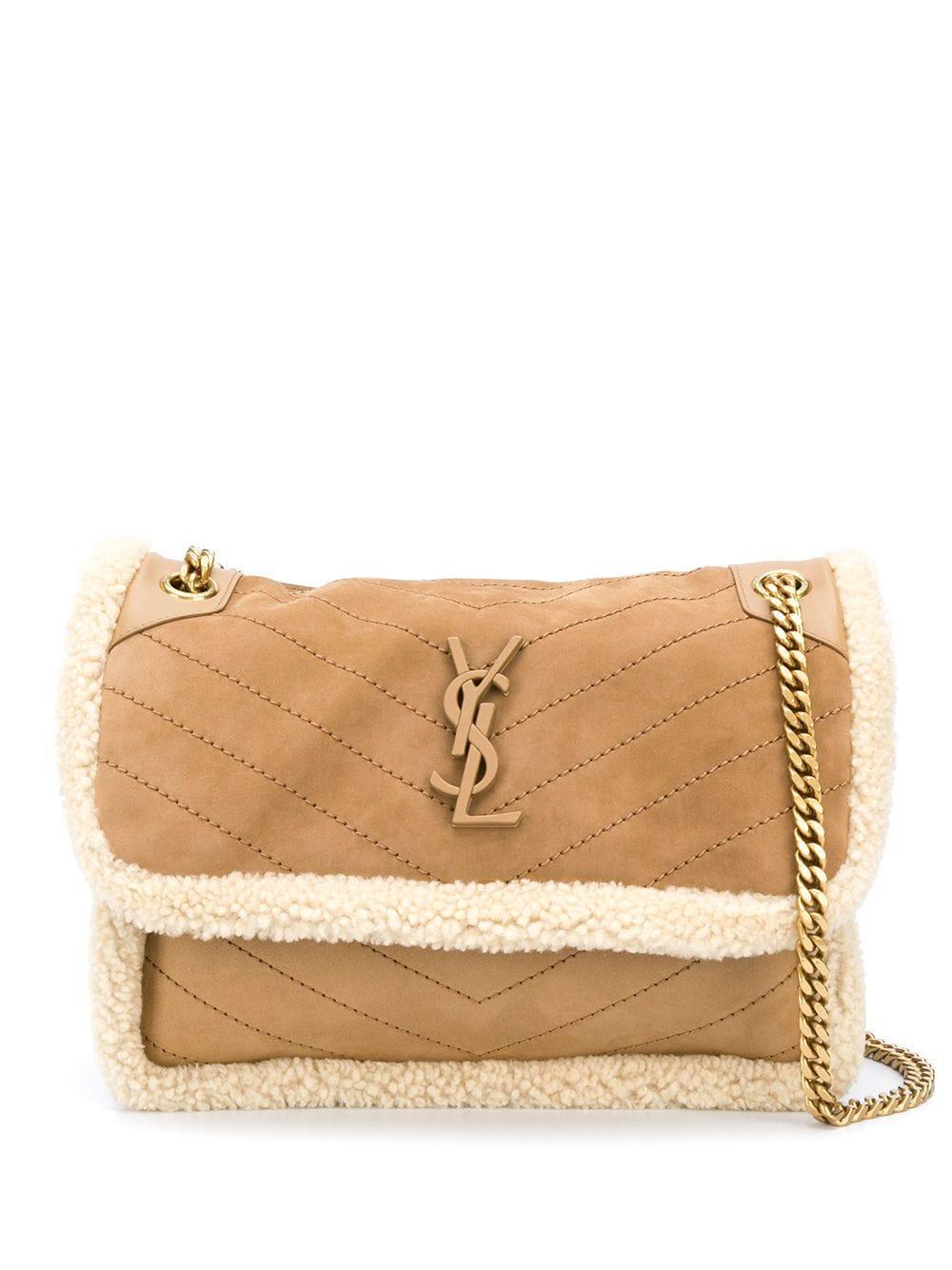 Niki Medium Shearling Bag Item # 633187BTO8W-F21