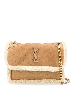 Niki Medium Shearling Bag