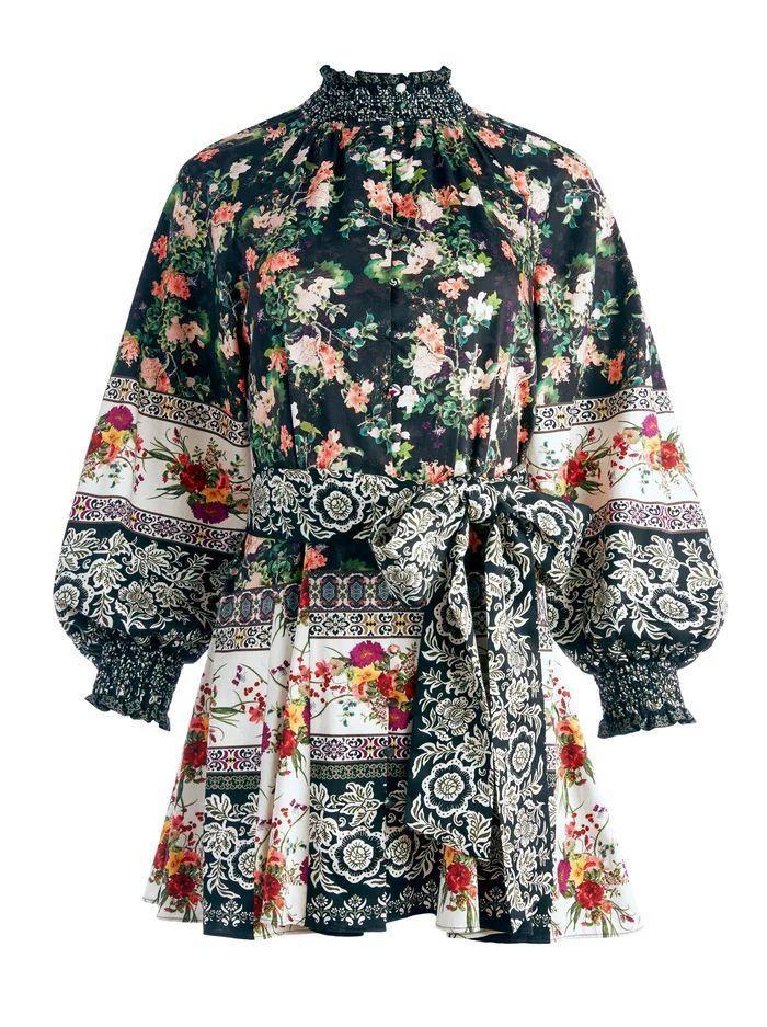 Janis Floral Mini Dress Item # CC108P46506
